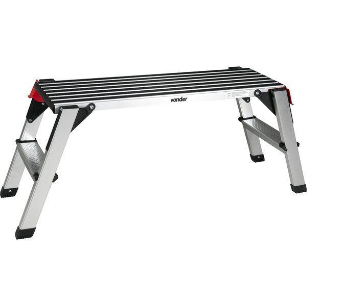 Plataforma de alumínio dobrável 150 kgf VONDER PLUS