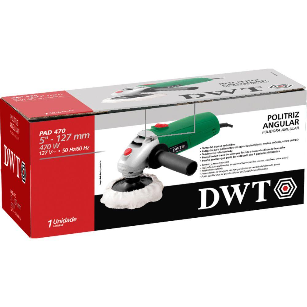 """Politriz Angular 470W 5"""" PAD470 220V DWT"""