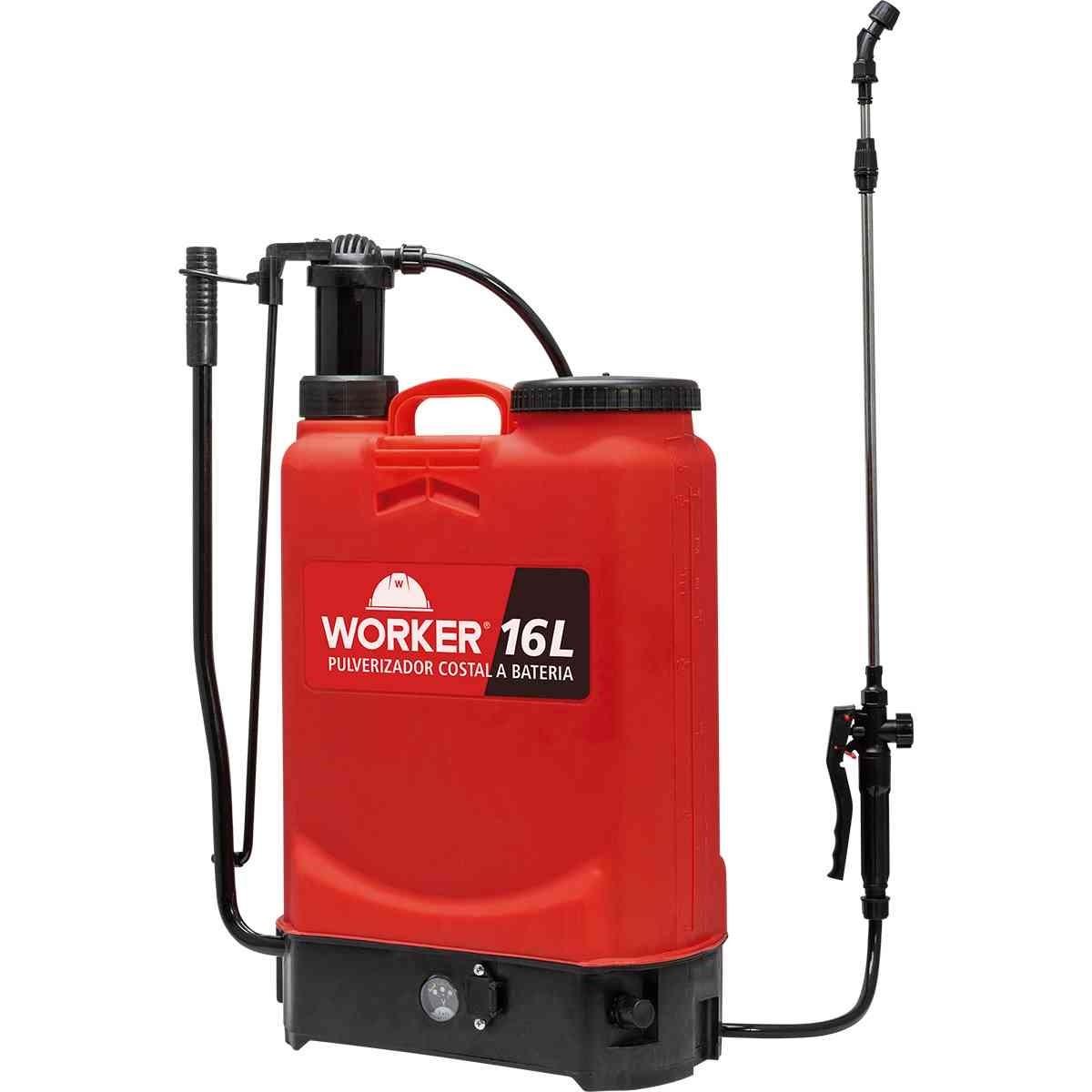 Pulverizador Costal  2 em 1 A Bateria 16 Litros  Worker
