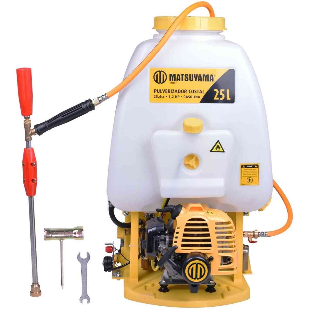 Pulverizador Costal Gasolina 25cc 1.2hp 25 Litros -Matsuyma