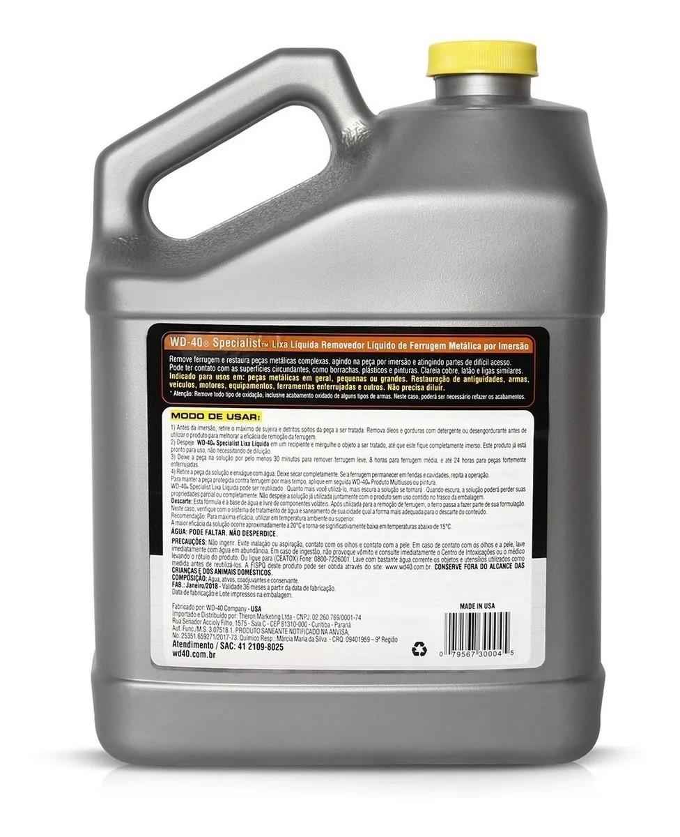 Removedor Lixa Liquida de Ferrugem 3.7Litros WD-40 Specialist