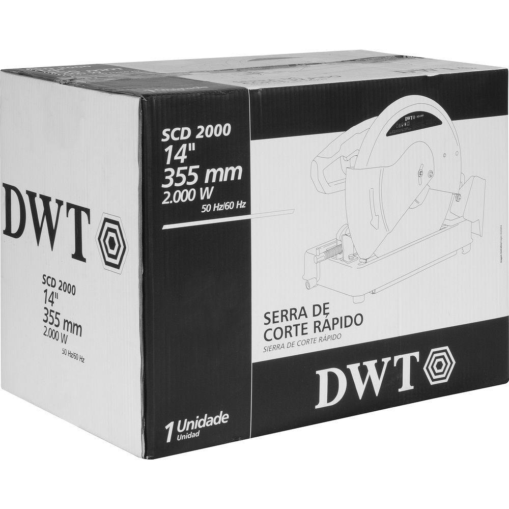 """Serra Corte Rápido 2000W 14"""" SCD2000 220V DWT"""