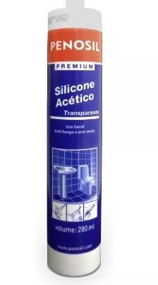 Silicone Acético Transparente Uso Geral Anti fungo 280ml -  Penosil
