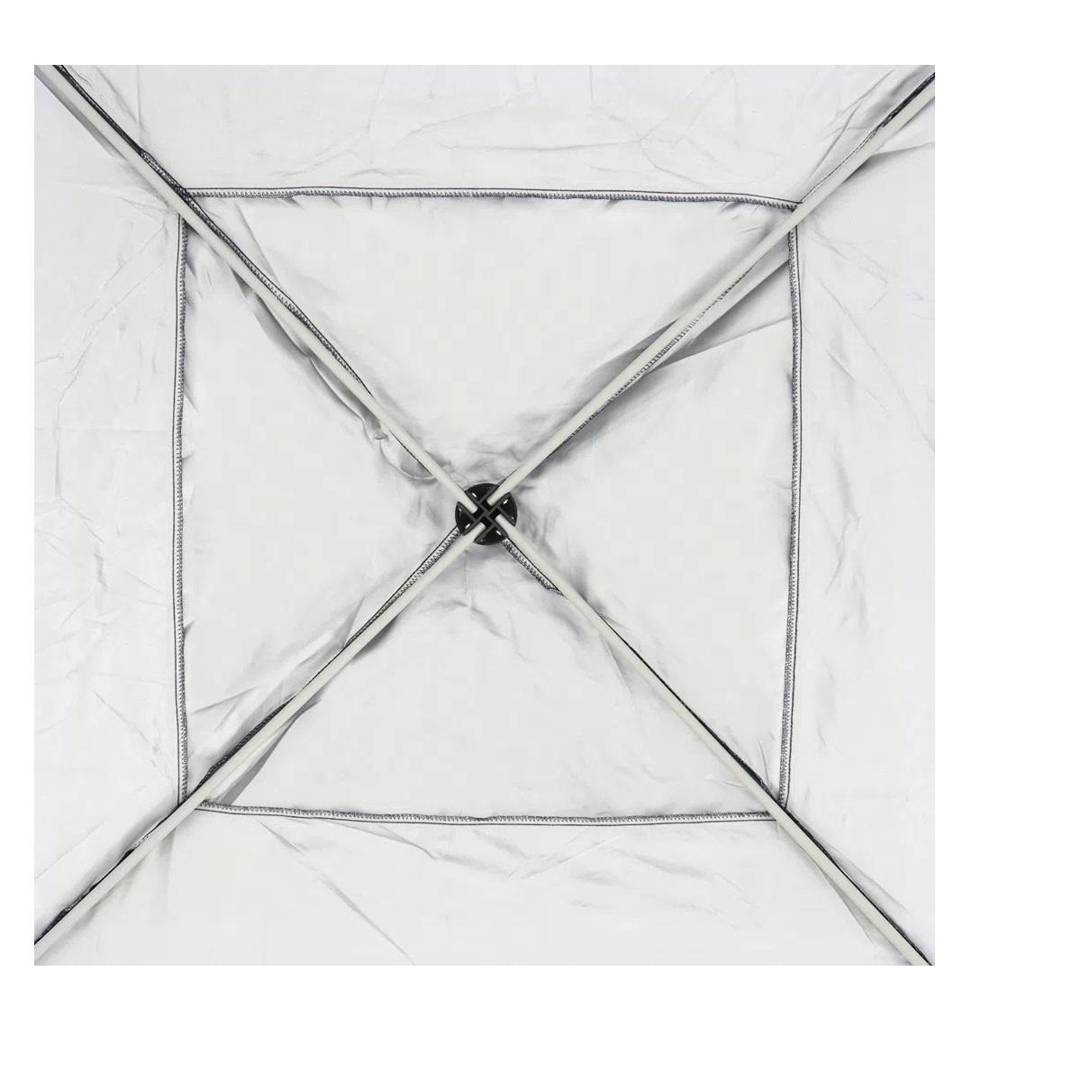 Tenda Gazebo Alumínio Dobrável Marrom 3x3m BelFix