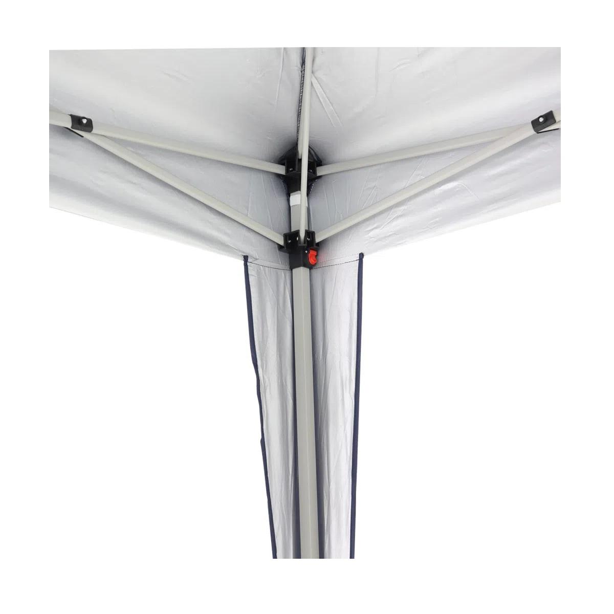 Tenda Gazebo Alumínio Dobrável Preto 3x3m BelFix
