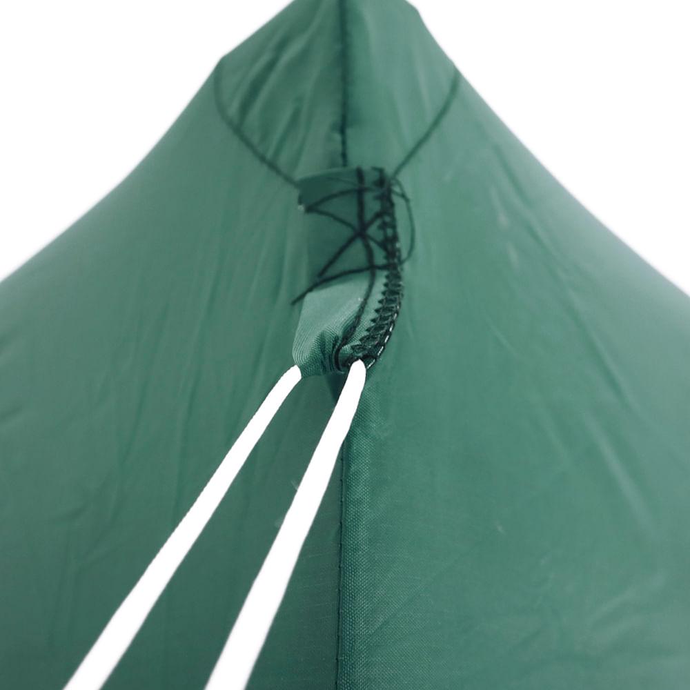 Tenda Gazebo Dobrável 3 m x 3 m Poliéster Verde Bel