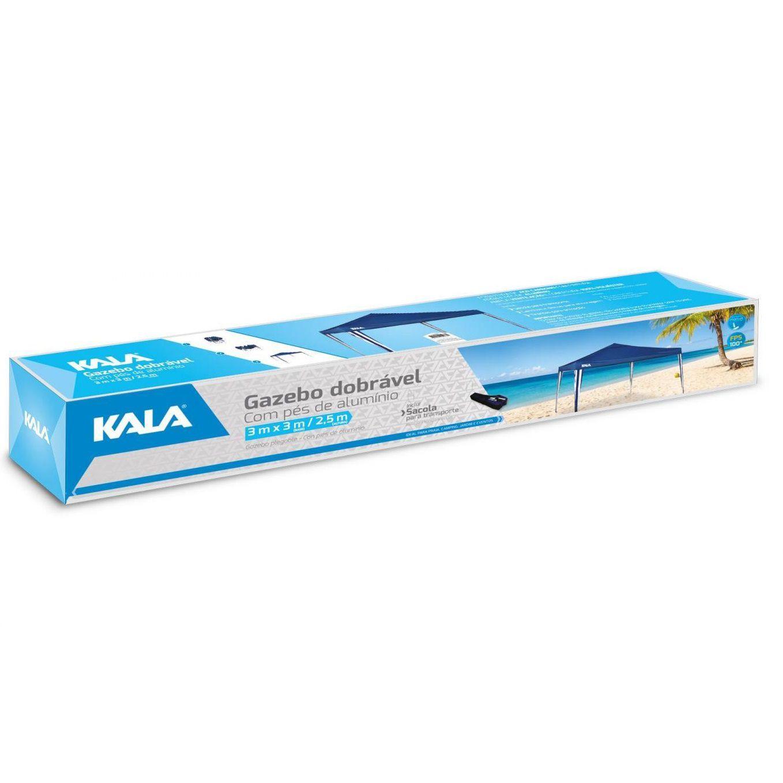 Tenda  Gazebo Dobrável Pés Aluminio - Kala