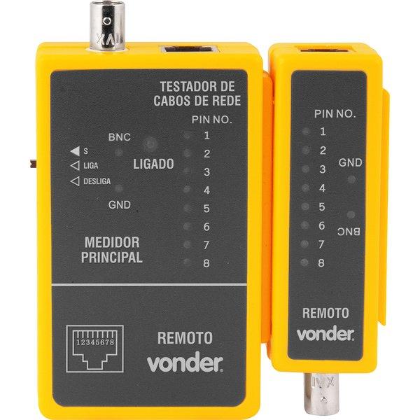 Testador de cabos de rede RJ45 e cabos coaxial VONDER