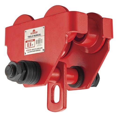 Trole Manual Worker 393290 Com Rolamento Capacidade 0.5 Toneladas