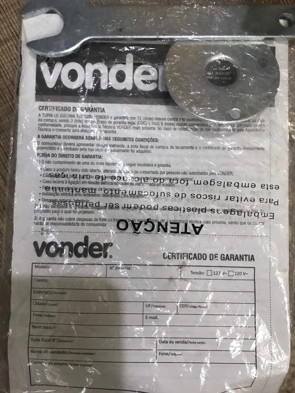 Tupia de Coluna 1200w 220v Seminova - Vonder