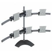 Suporte de Mesa para Seis Monitores de LCD, LED, WIDE, 3D de 10