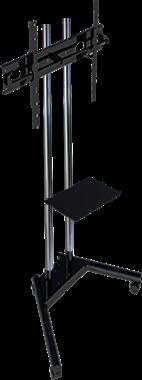 """Pedestal com Rodas e Bandeja para TV de 19"""" a 65"""" SS-1800C"""