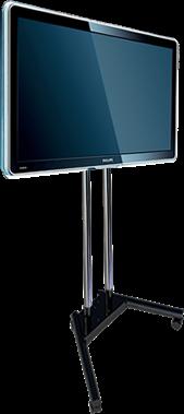 """Pedestal com Rodas para TV LCD, LED, Plasma, 3D 19"""" a 65"""" SS-1800A"""