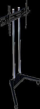 """Pedestal com Rodas para TV LCD, LED, Plasma, 3D de 19"""" a 65""""  SS-1800A"""