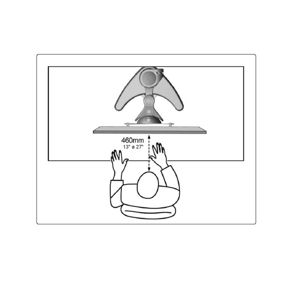 """Suporte Articulado para Monitor LCD e LED 13"""" a 27""""  SS-752"""
