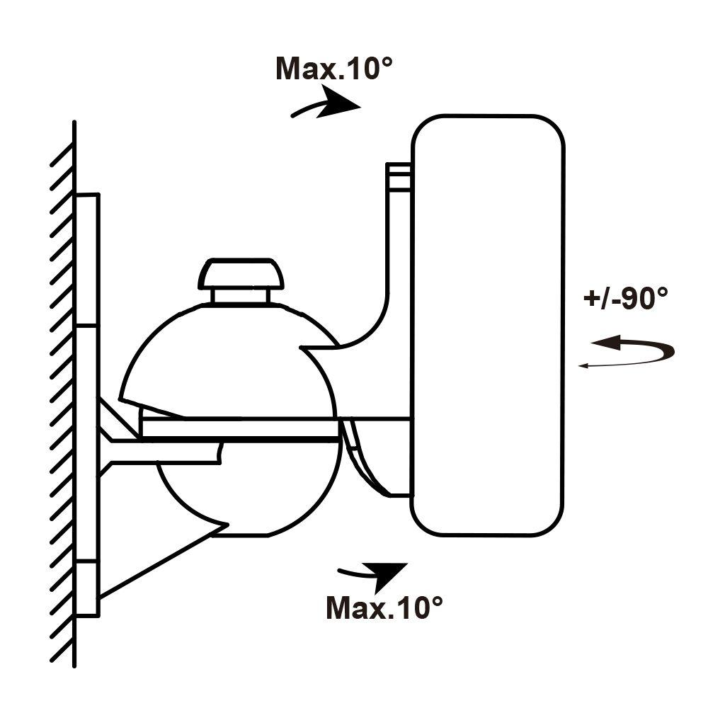 Suporte Articulável para Caixas Acústicas SS-496