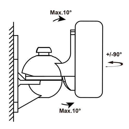 Suporte Articulável para Caixas Acústicas SS-SCW