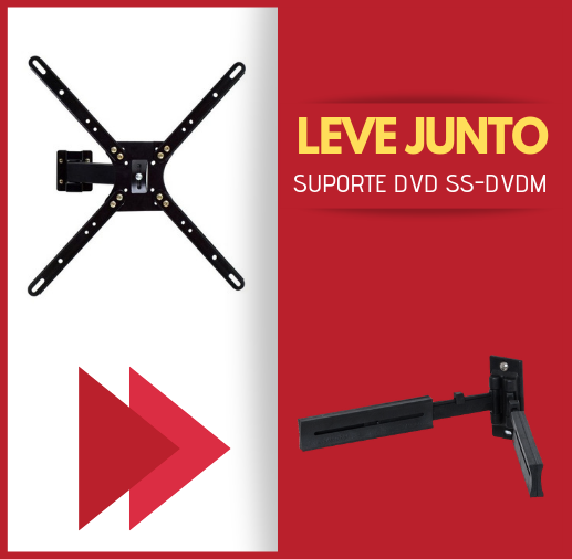 """Suporte Bi Articulado para TV LCD, LED, 3D de 10"""" a 47"""" SS-400"""
