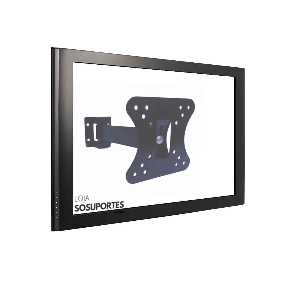 """Suporte Bi Articulado para TV LCD, LED, 3D de 10"""" a 55"""" SS-B40"""