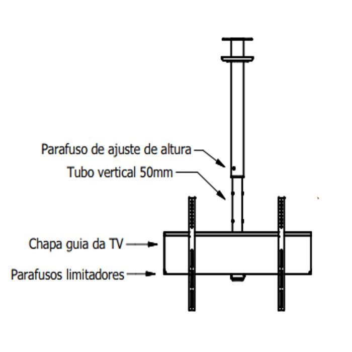 Suporte de Teto para TV LCD, LED, Plasma, 4K e Curva de 40
