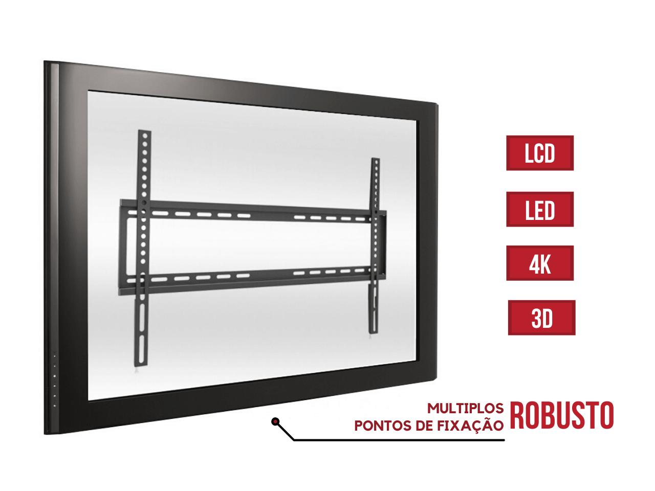 """Suporte Fixo para TV LCD, LED de 32"""" a 75"""" SS-60"""