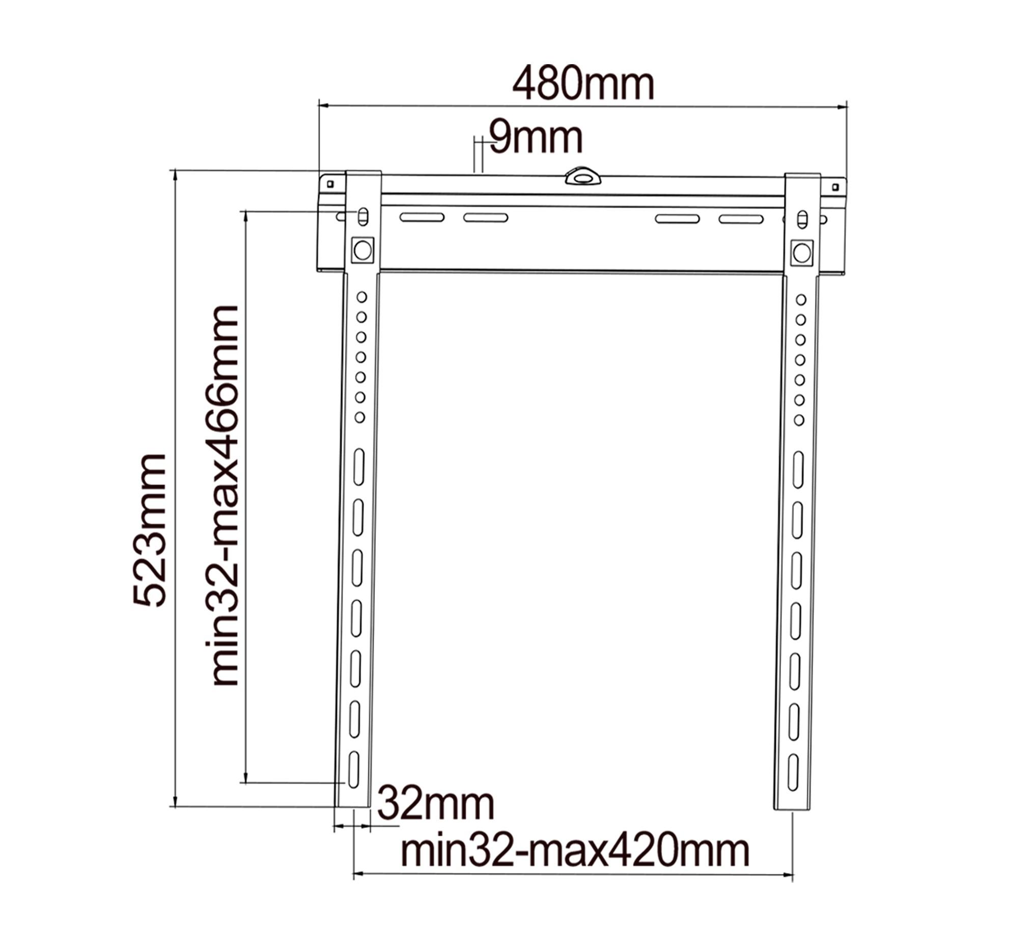 """Suporte Fixo  para TV Ultra-Slim, LCD, LED de 26"""" a 47"""" SS-644"""