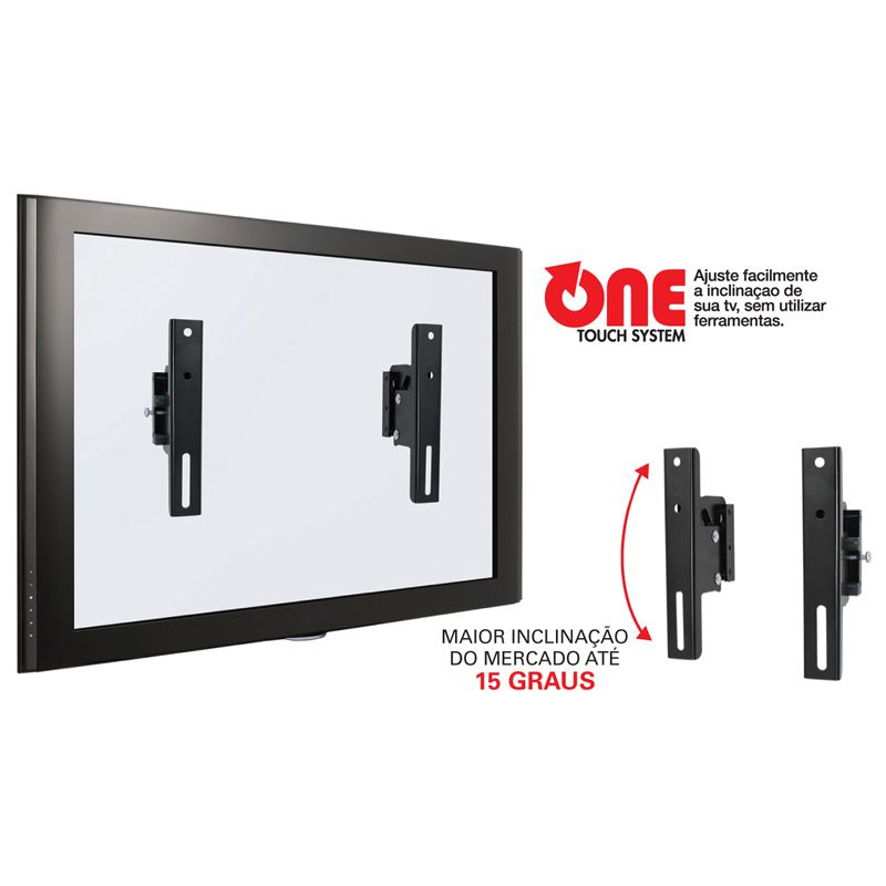"""Suporte Inclinável para TV LCD, Plasma, LED 14"""" a 70"""" SS-INFPLUS"""