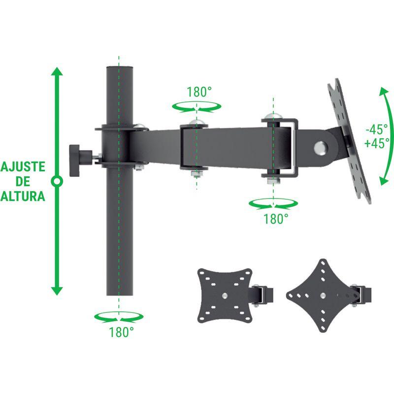 """Suporte para 6 Monitores LCD, LED de 10"""" a 24"""" SS-ERGO6"""