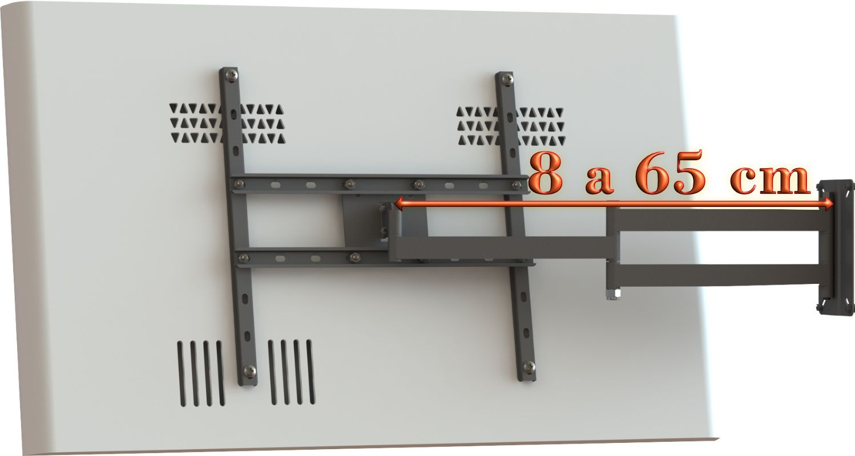 """Suporte Articulado para TV LCD, LED, Plasma, 3D de 10"""" a 65"""" SS-6541"""