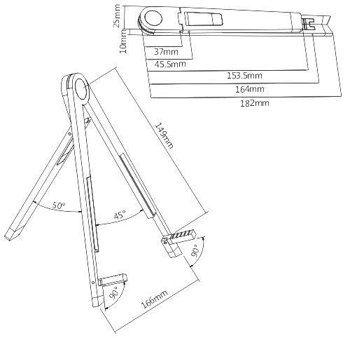 "Suporte Universal para Tablet 8,9"" a 10,4""  SS-PDV3"