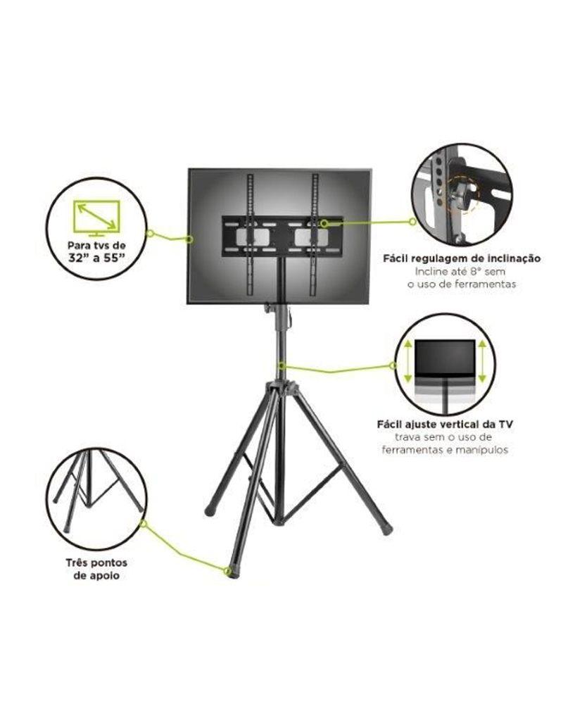 Tripé para TV LCD, LED, Plasma de 32'' a 55'' SS-06V4TP