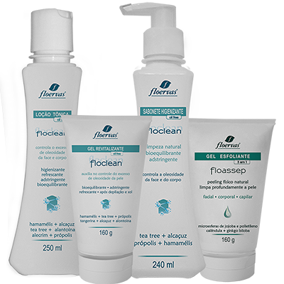 Kit Facial - Terapia diária para pele acneica, oleosa e mista