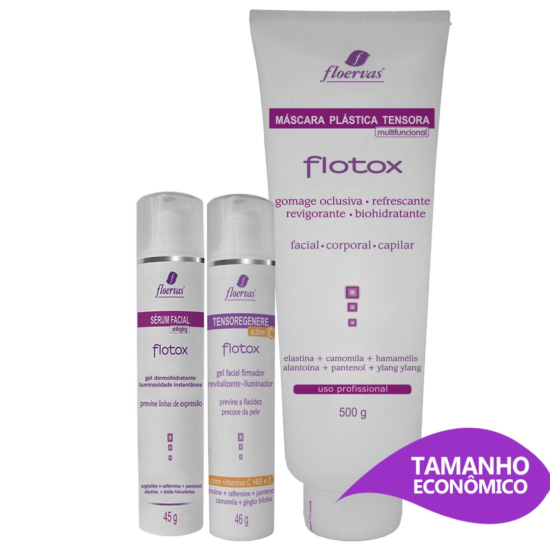 Kit Facial - Botox Cosmético - Efeito Dermorelax e Anti-aging (Econômico)