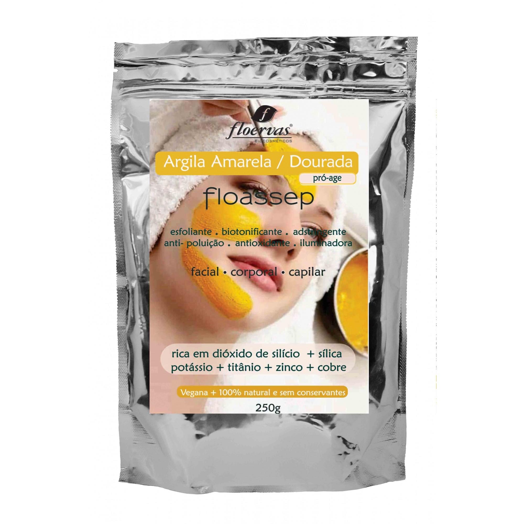 Cód. 632 - Argila Amarela / Dourada Vegana 100% natural  (Pro-age)- 250g