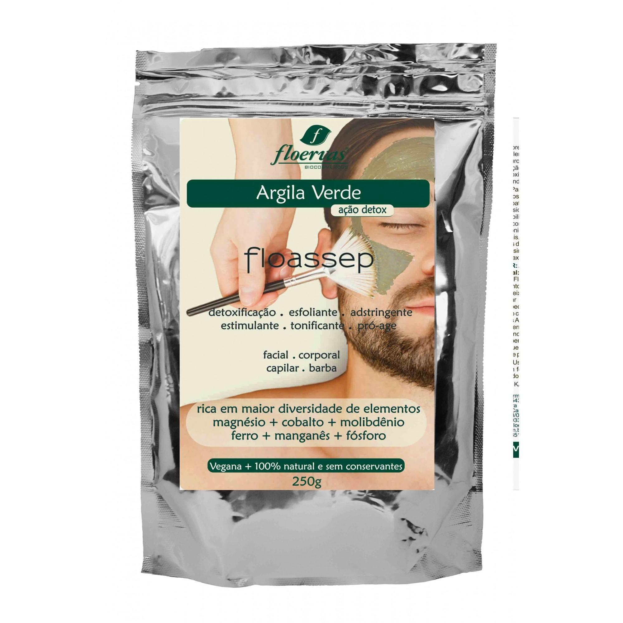 Cód. 636 - Argila Verde Vegana 100% natural (Ação Detox) - 250g