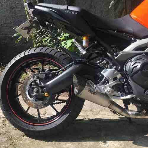 Ponteira Escape Scorpion Gp720 Inox Full 3x1 - Yamaha Mt-09