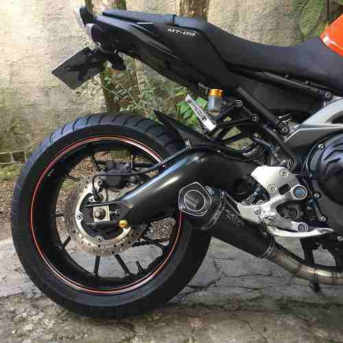Ponteira Escape Shark Gp920 Carbon Full 3x1 - Yamaha Mt-09