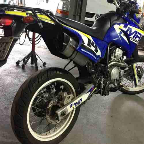 - Ponteira Escape V8 Full Inox - Yamaha Lander