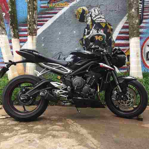 Ponteira Escape Shark Gp920 Carbon Street Triple 765 Rs/s