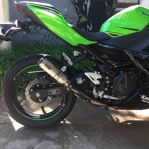 Ponteira Esportiva Gp Tech Inox - Ninja 400