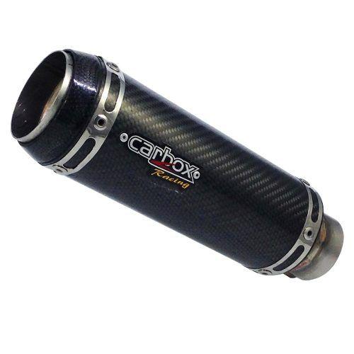 Ponteira Escape Gp Tech Carbono Full 2x1 - Mt-03