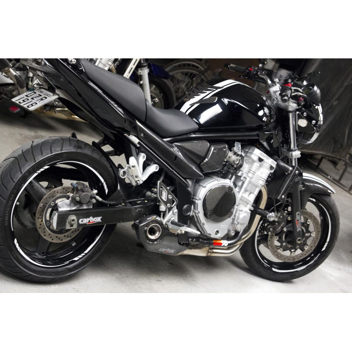 Ponteira Escape No Muffler Carbon - Bandit 650/1250