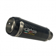Ponteira Escape Gp Tech Carbon Full 2x1 - Ninja 400