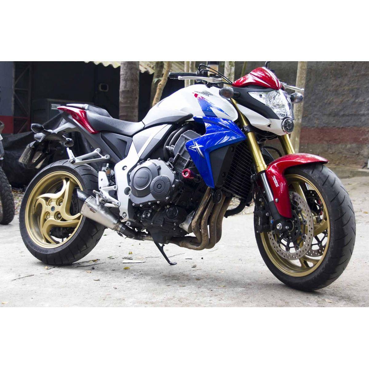 Ponteira Esportiva Scorpion GP 720 Inox Full 2x1 p/ CB1000r Todas