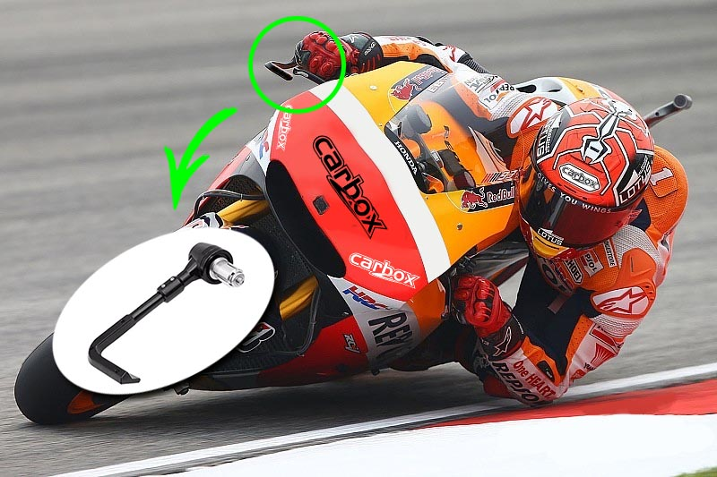 Protetor de Mão / Manetes em Alumínio Anodizado Moto GP