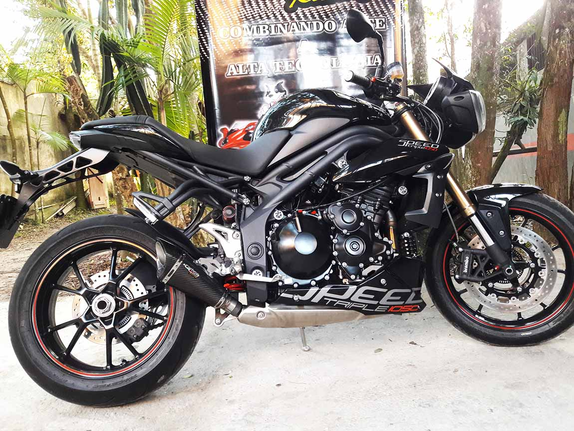 Ponteira Esportiva Scorpion GP 720 Carbon  Triumph Speed Triple 1050