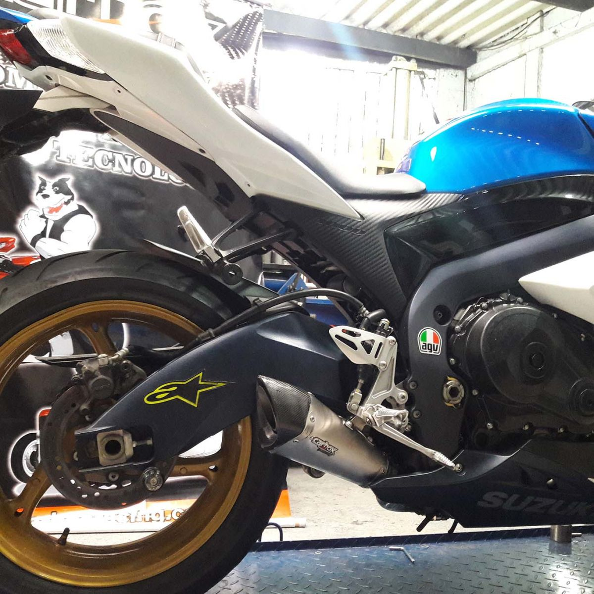 Ponteira Scorpion GP720 Inox p/ Suzuki SRAD GSXR1000 11 a 13