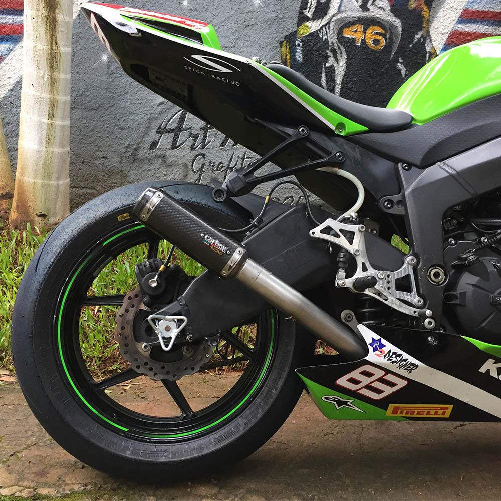 Escapamento Gp Tech Carbon Full Race 4x2x1 - Zx6r