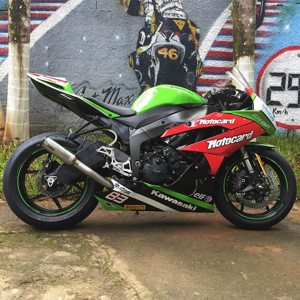 Escapamento Gp Tech Inox Full Race 4x2x1 - Zx6r