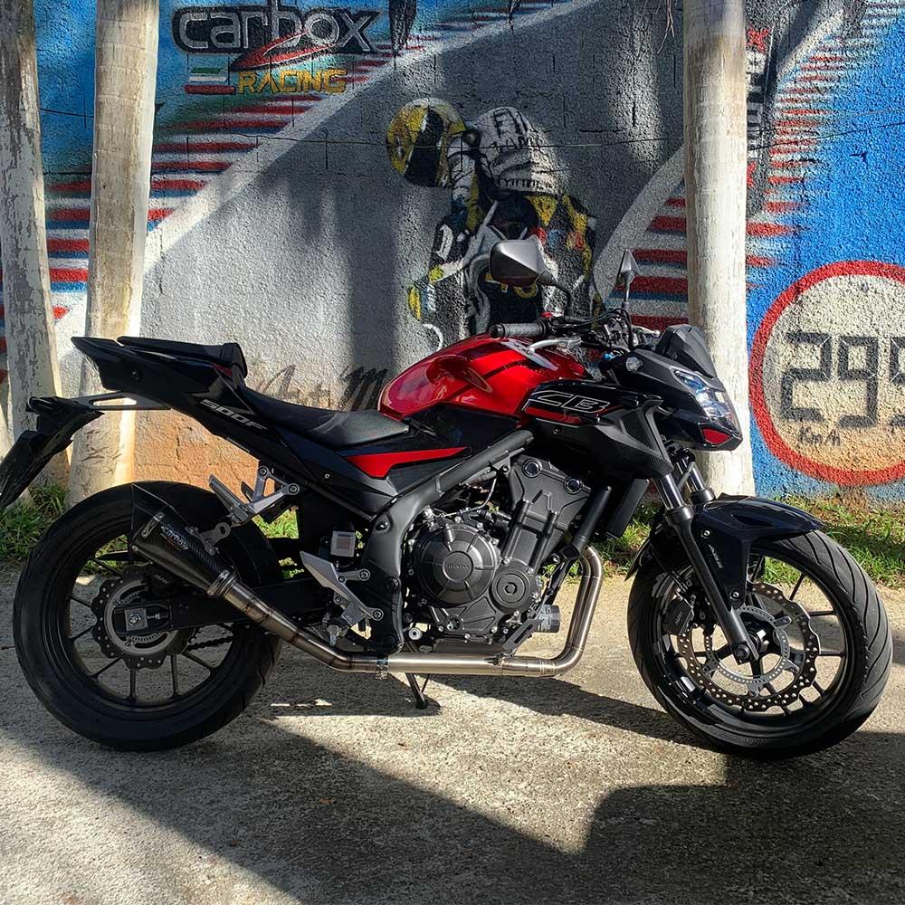Escapamento Scorpion GP720 Carbon Full 2x1 - CB500F